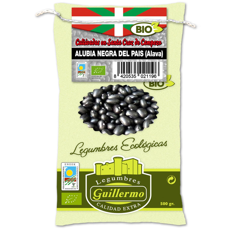 Guillermo Alubias Negras Judía del País Vasco Ecológicas BIO Gourmet Categoría Extra Saco 500gr