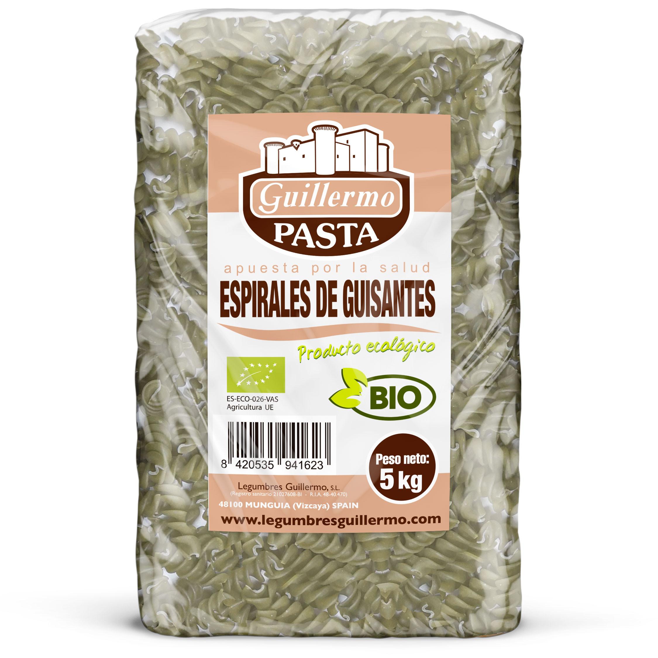 Guillermo Horeca Espirales de Guisantes Ecológicos BIO Granel 5kg
