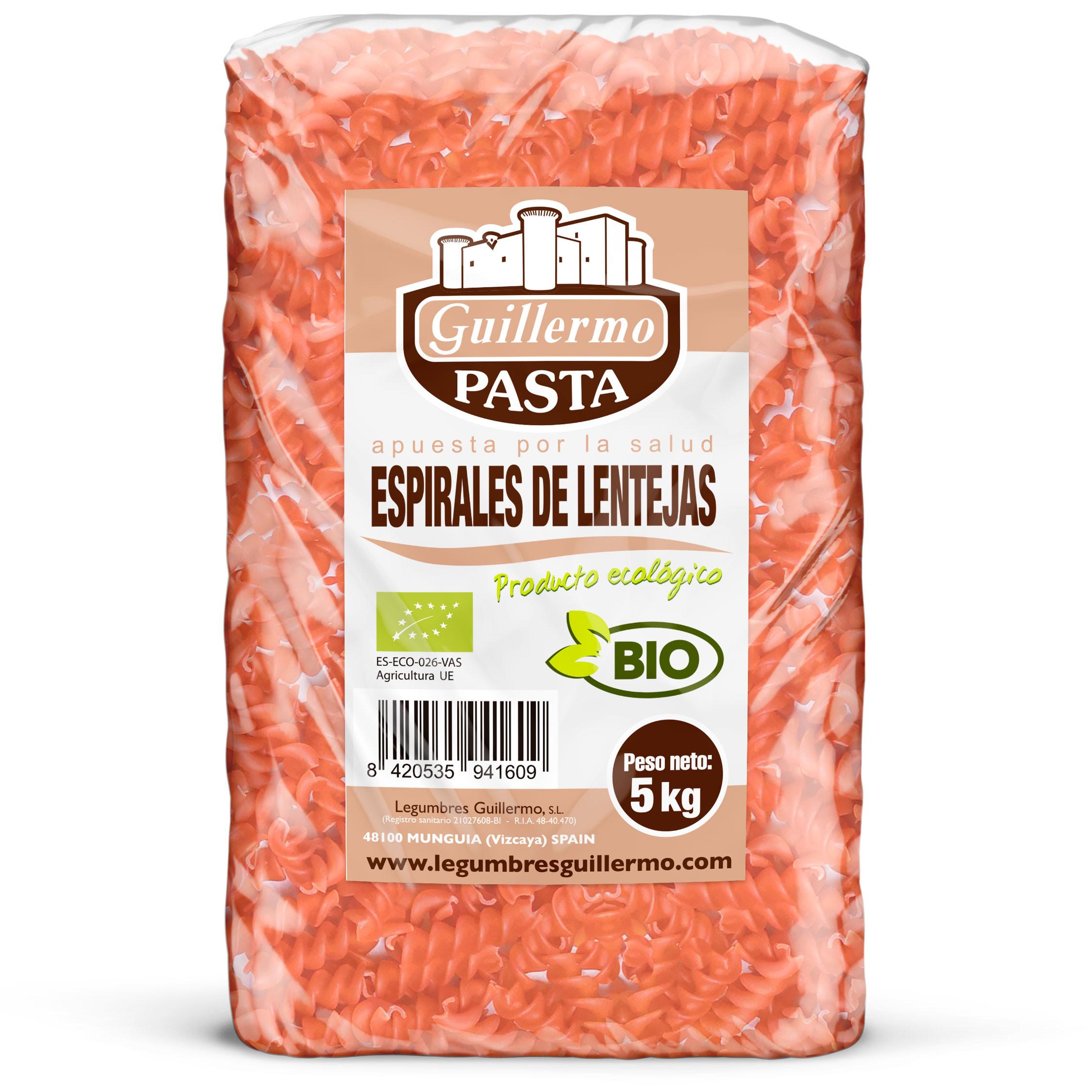 Guillermo Horeca Espirales de Lentejas Ecológicos BIO Granel 5kg