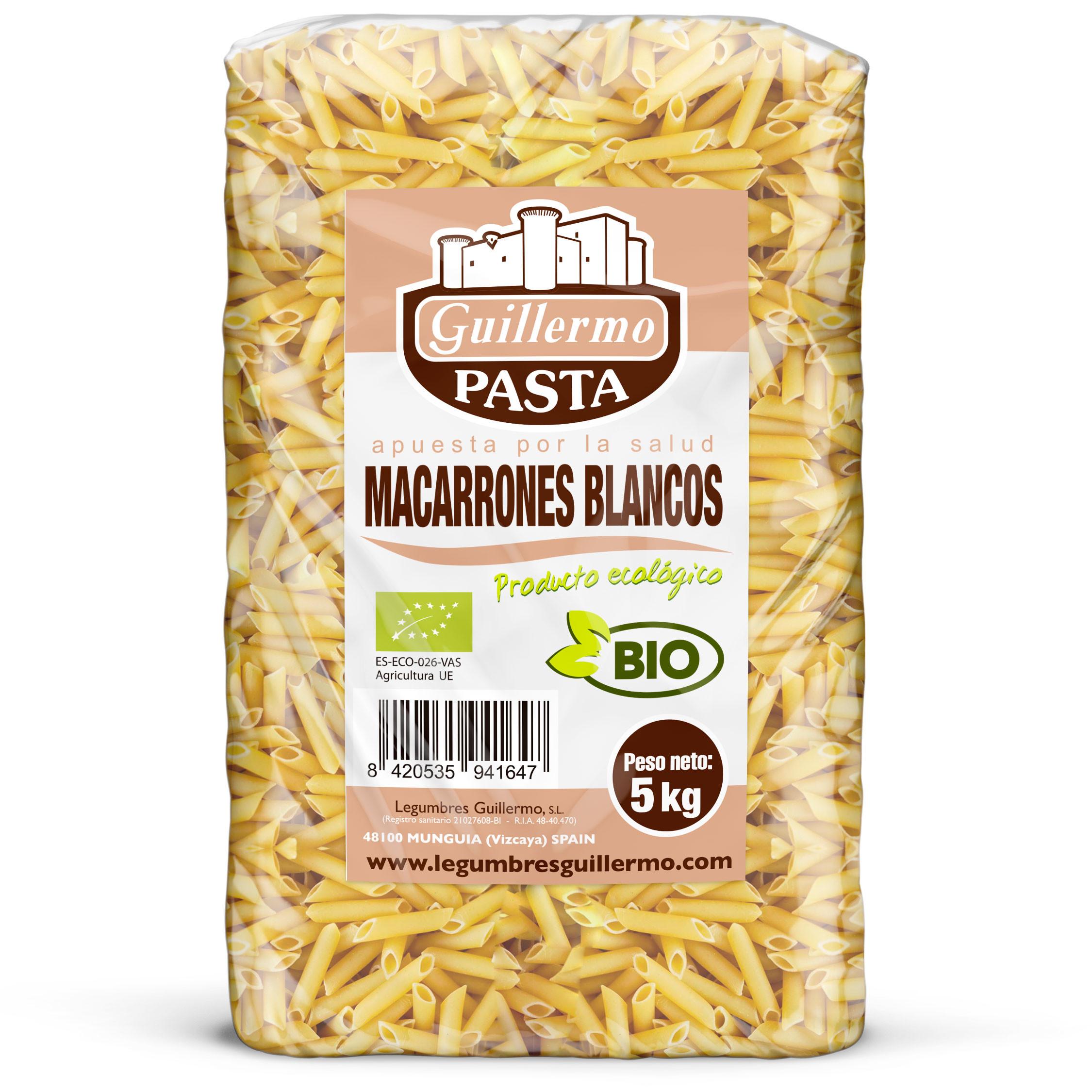 Guillermo Horeca Macarrones Blancos Ecológicos BIO Granel 5kg