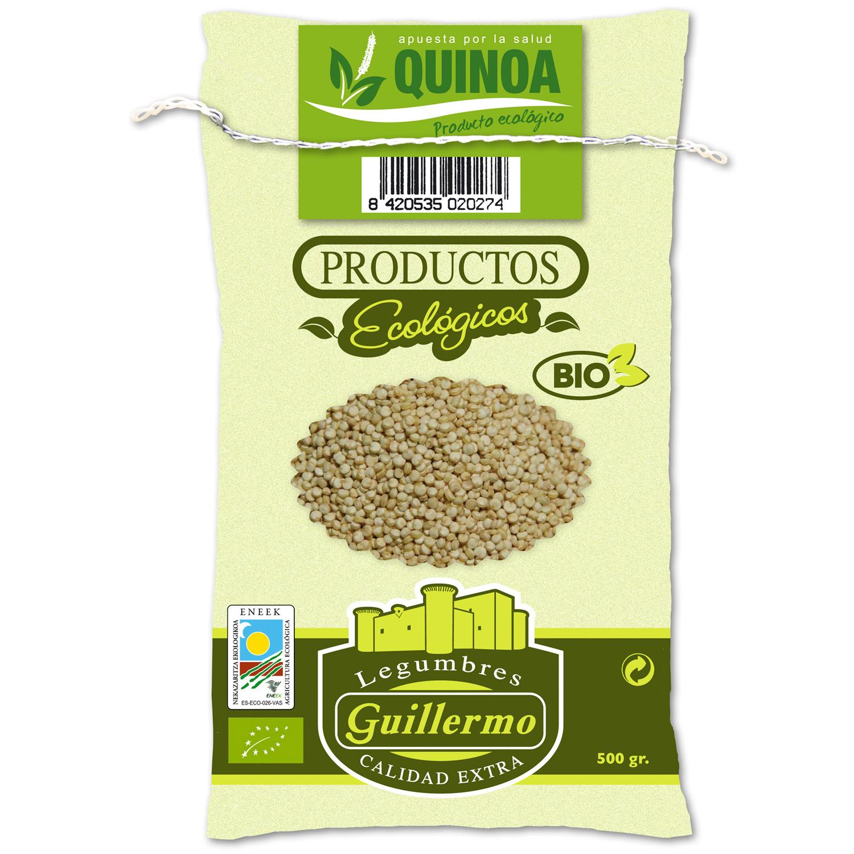 Guillermo Quinoa Blanca Ecológica BIO Gourmet Superalimento Categoría Extra Saco 500gr