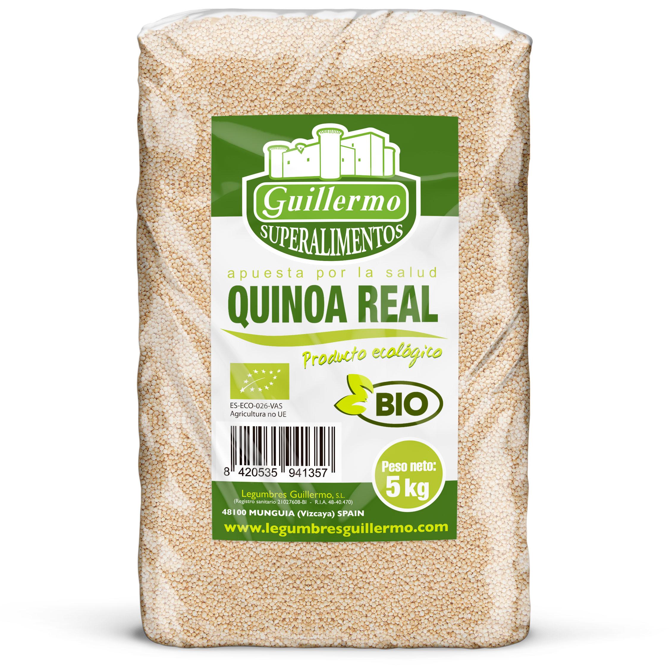 Guillermo Horeca Quinoa Real en grano Ecológica BIO Granel Superalimento 100% Natural 5kg