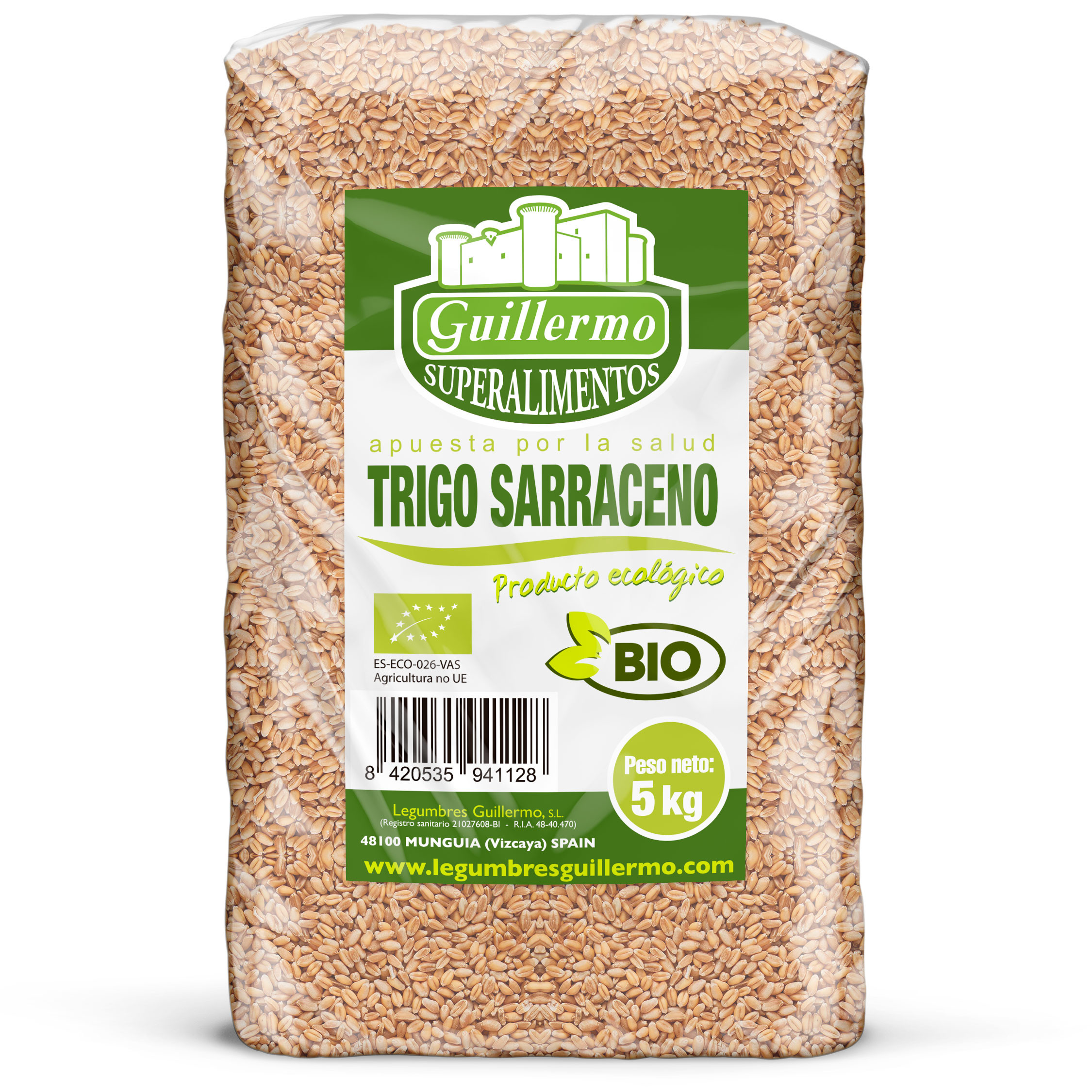 Guillermo Horeca Trigo Sarraceno Ecológico BIO Granel Superalimento 100% Natural 5kg