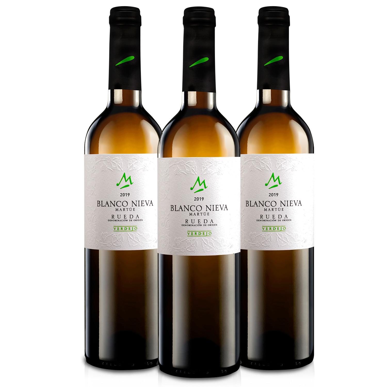 Martúe Blanco Nieva Verdejo Vino Blanco D.O. Rueda - 3 Botellas x 750 ml