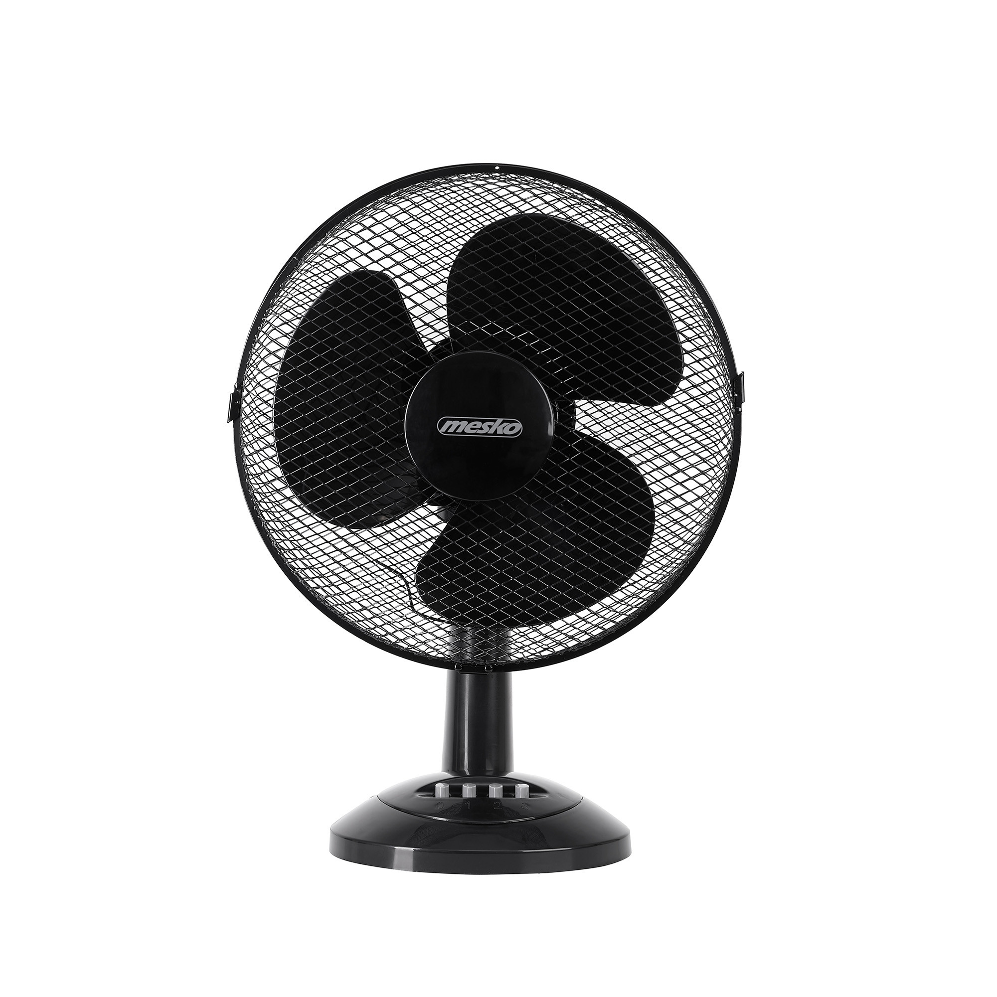 Mesko MS7309 Ventilador de Mesa oscilante, Inclinable, 30 cm, 3 velocidades, Negro, 70W