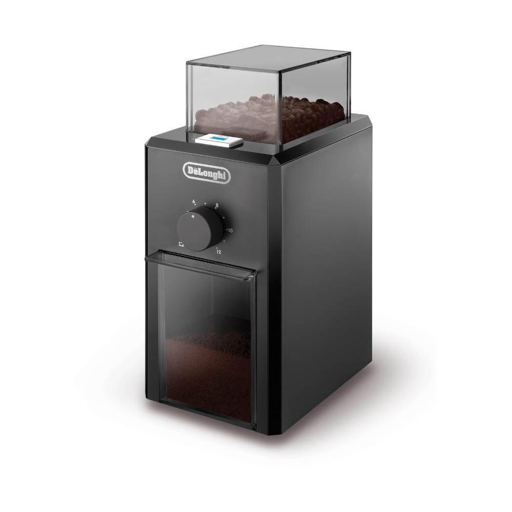 Delonghi KG 79 - Molinillo de café profesional eléctrico con sistema de mueleas, ajuste de molienda, 12 tazas café, 110 W