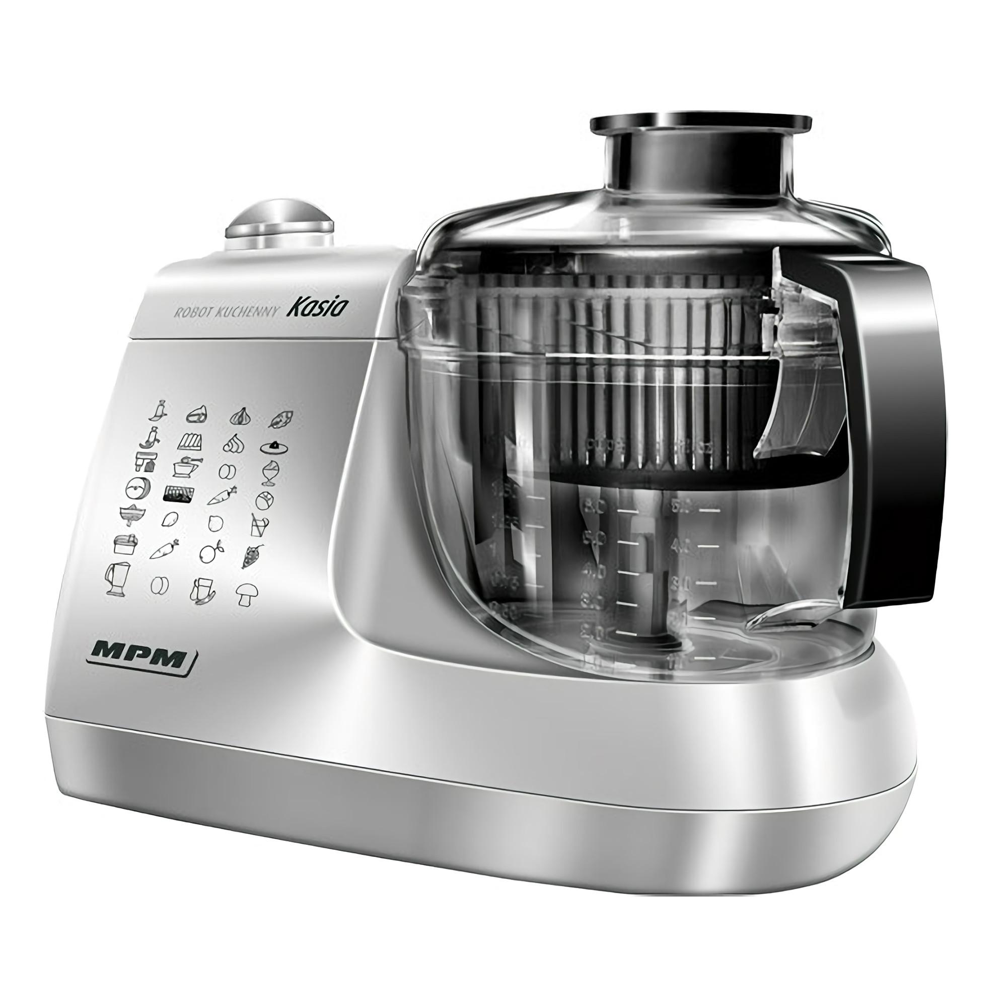 MPM MRK-12 Procesador de Alimentos de Cocina Eléctrico, Amasador, Batidora, Exprimidor, Licuadora, Picadora, 1,5 L, Todo en Uno, 800 W