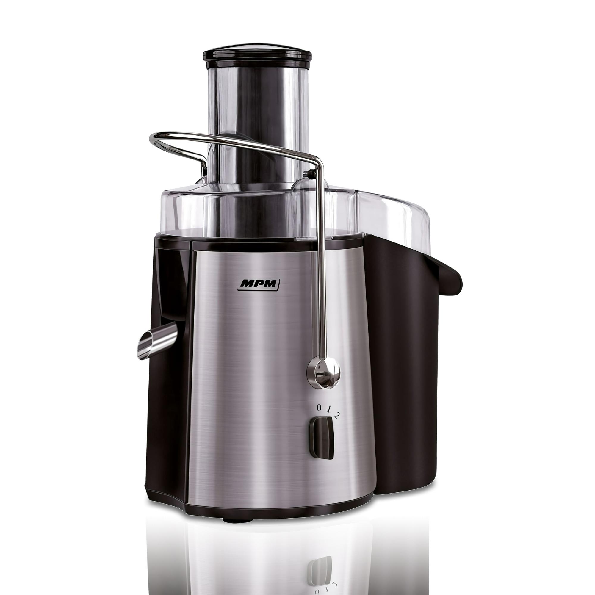 MPM MSO-06M Licuadora para Frutas y verduras de Acero Inoxidable, 1 Litro por Minuto, 2 Velocidades, sistema de seguridad, 1000W