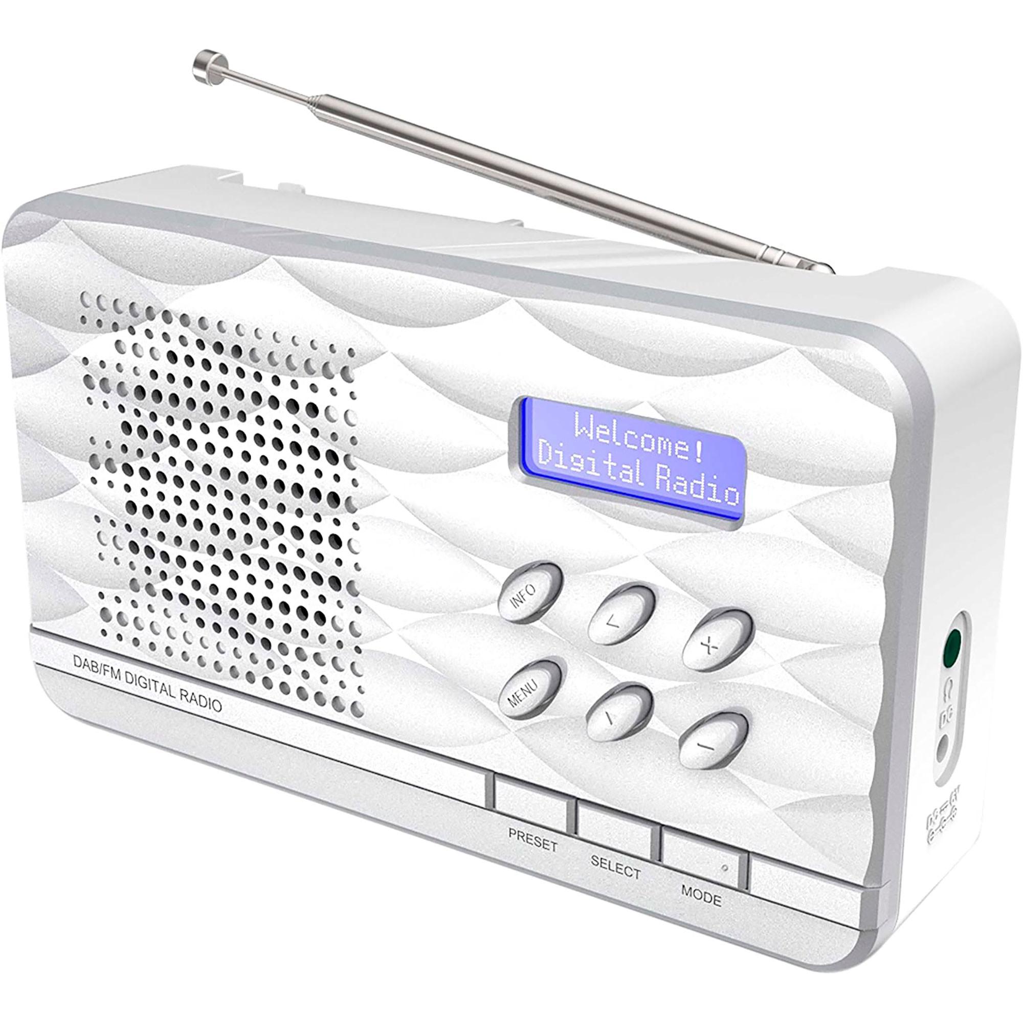 Soundmaster DAB500SI Radio Portátil AM, FM y DAB+, Sintonizador Digital, Compacta, Pantalla LED, Color Plata