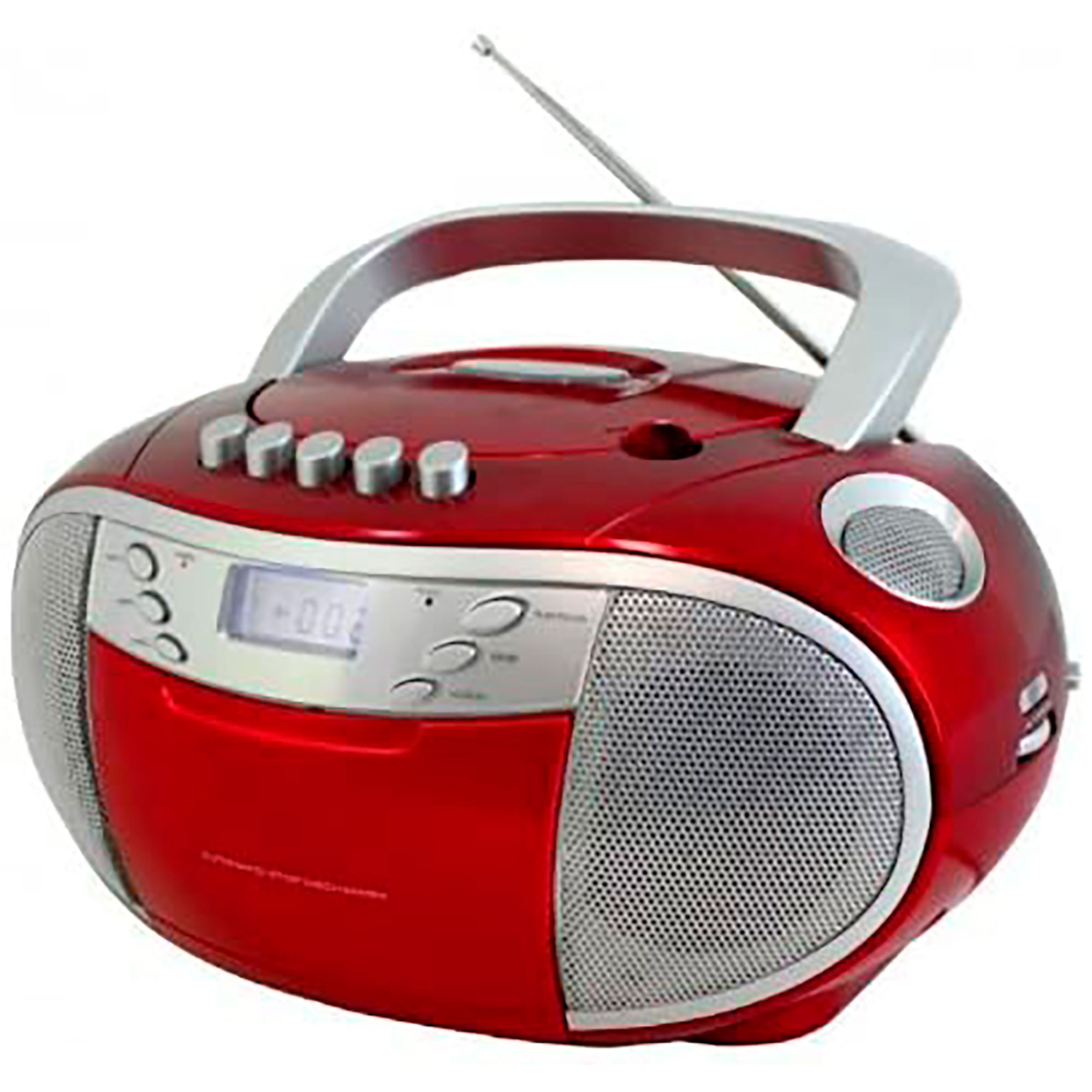 Soundmaster SCD6900RO Radio, Portátil AM/FM, Reproductor de CD-CDR-CDRW, Cassette, Rojo