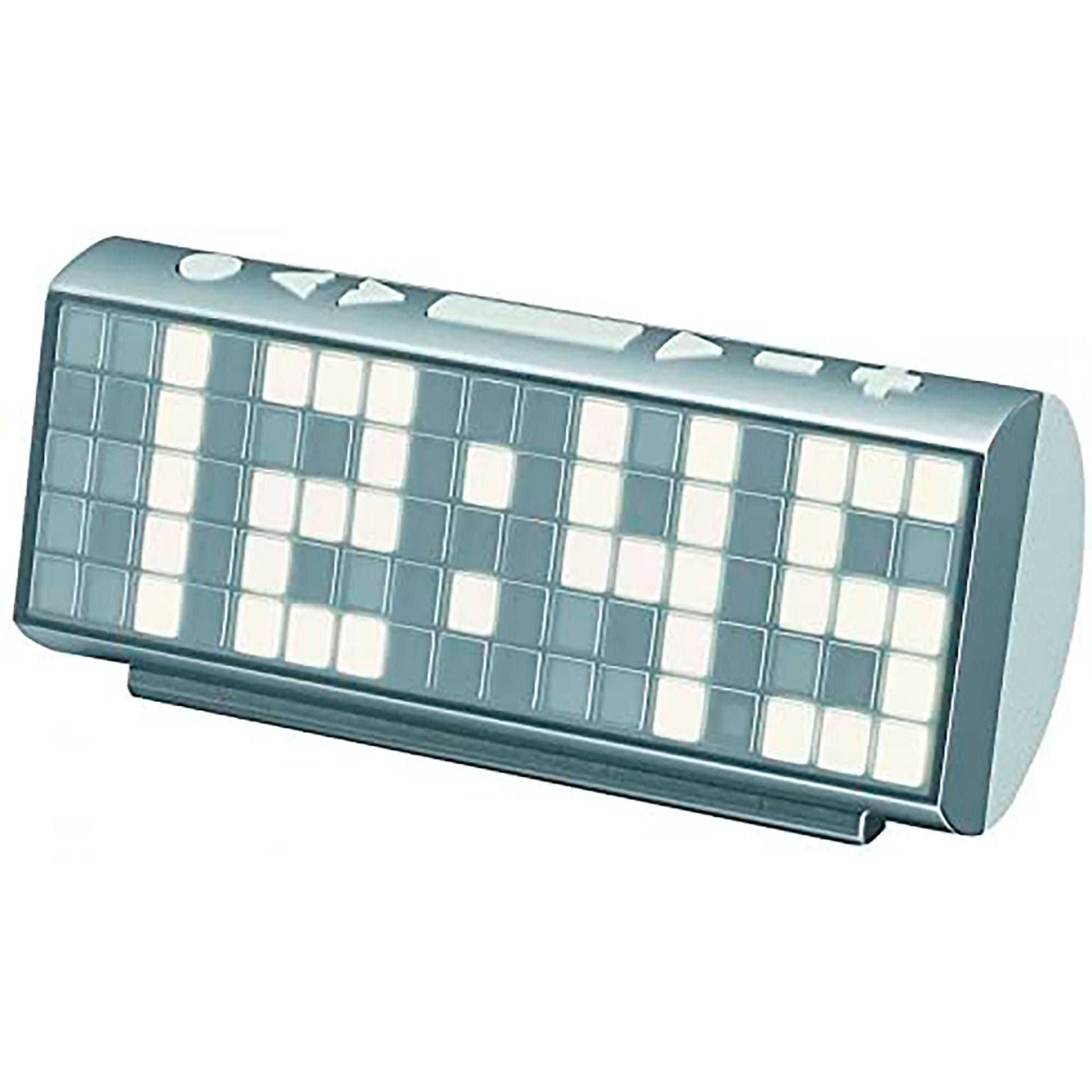 Soundmaster UR200WE Radio Despertador Jumbo, Portátil FM PLL, Sintonizador Analógico, Compacta, Pantalla LCD, 2 Alarmas Programables, Blanco