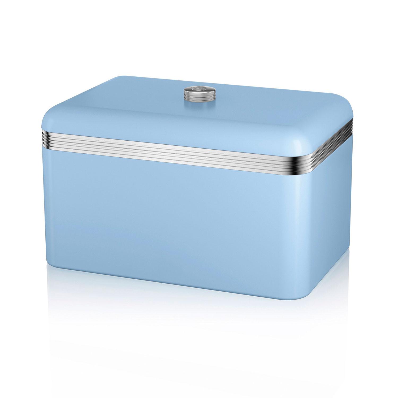 Swan SWKA1010BLN Panera metálica con capacidad 18 litros vintage diseño retro Azul