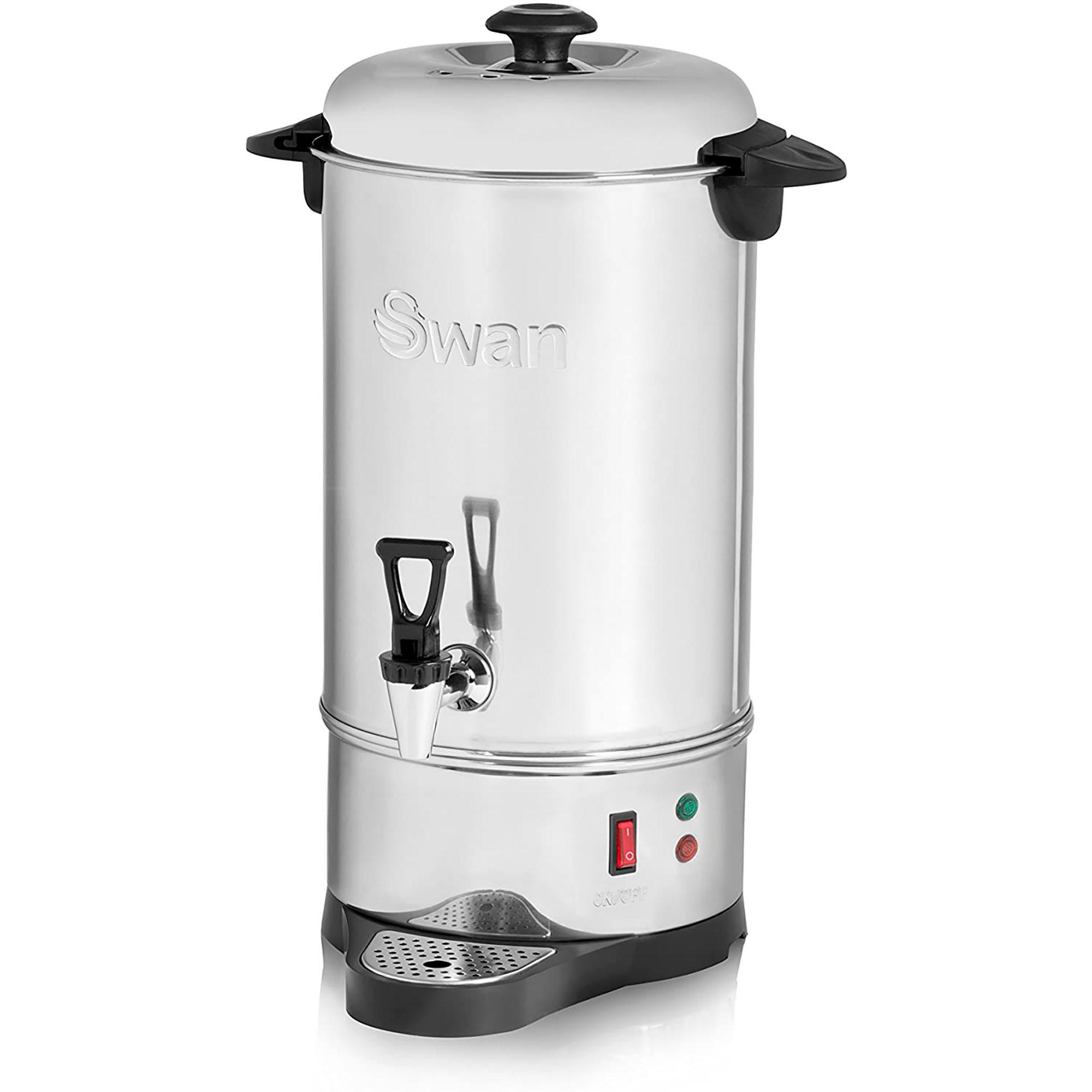 Swan SWU10L Dispensador Bebidas Calientes 10 Litros, Hervidor, Acero inoxidable, Control Temperatura Automática, Resistencia Oculta, Función Mantenimiento de Calor, 1600W