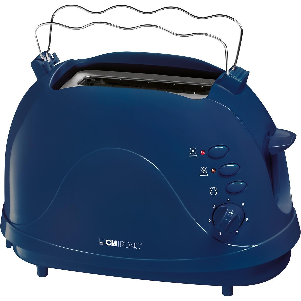 Clatronic Tostador 2 rebanadas TA 3565 Azul