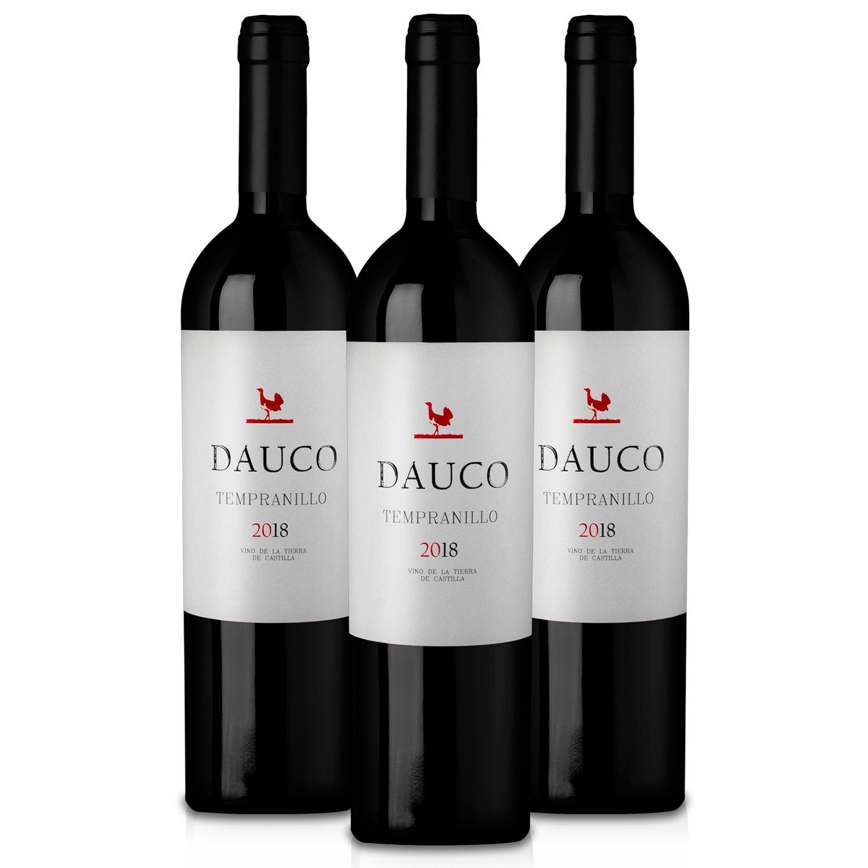 Martúe Dauco Vino Tinto Tempranillo Tierra de Castilla - Lote Pack 3 Botellas 750 ml
