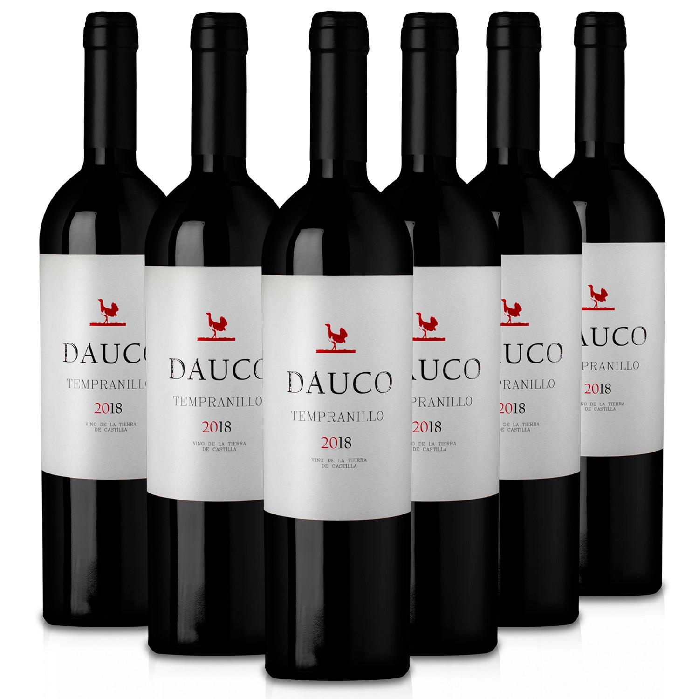Martúe Dauco Vino Tinto Tempranillo Tierra de Castilla - Lote Pack 6 Botellas 750 ml