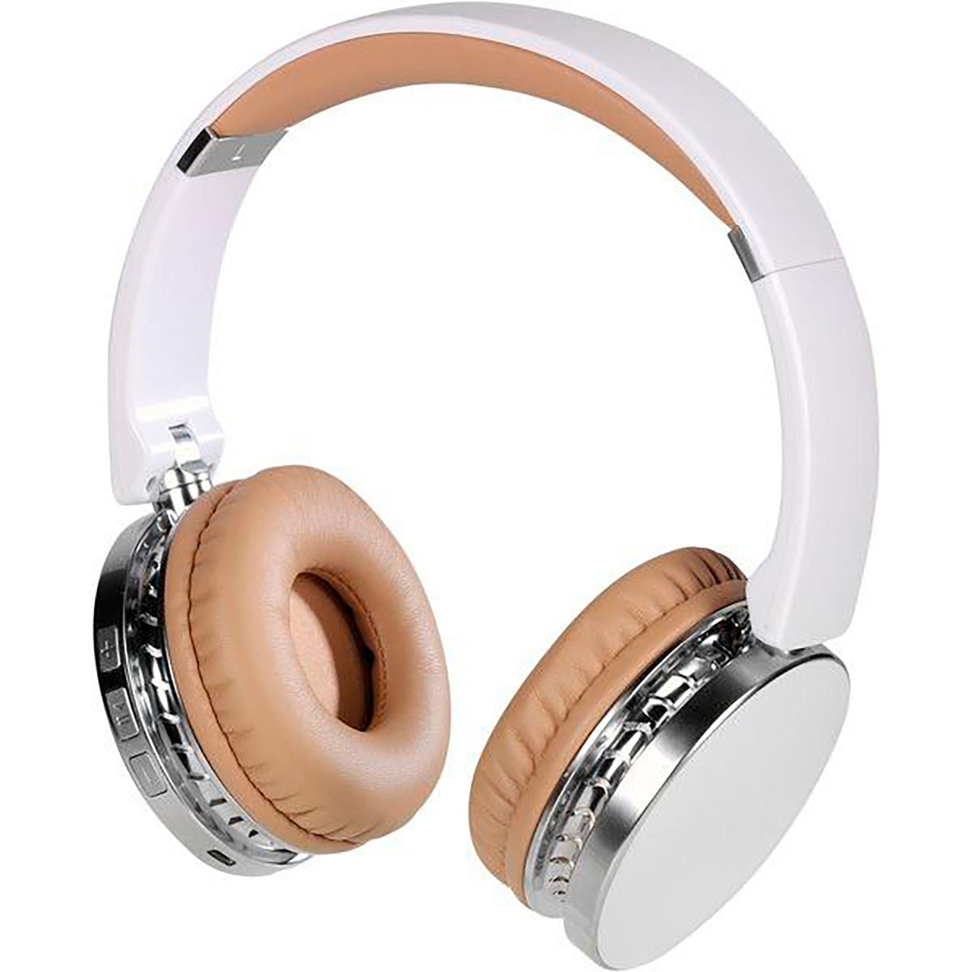 Vivanco Neos Air Auriculares de Diadema, Bluetooth, Inalámbricos, Manos Libres, 8h de Autonomía, Sonido de Alta Calidad, Blanco