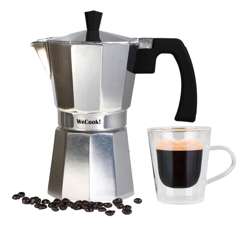 Wecook Paola Cafetera Italiana de aluminio express, 3 tazas café