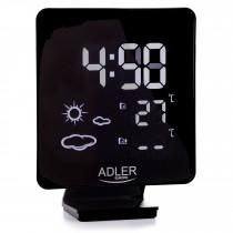 ADLER AD1176 Estación Metereológica Temperatura Interior y Exterior, Sensor Inalámbrico, Pronóstico de Tiempo, Indicador Fecha y Hora, Alarma ?>