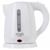 Adler AD1272 Hervidor de Agua Eléctrico 1 Litro, Recipiente sin BPA, Resistencia Oculta, 1600 W con Apagado Automático al Alcanzar la Ebullición, Inalámbrico 360º sin Cable, Blanco ?>