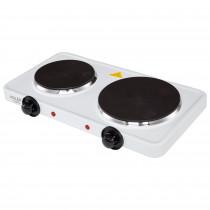 Adler AD-6504 Hornillo Eléctrico Doble, Regulador de Temperatura, Compacto, 154 y 185 mm, 2500W ?>