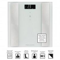Proficare PW 3007 - Báscula de análisis corporal de 8 funciones, de cristal y acero inoxidable, color blanca ?>