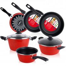 Magefesa GRANA - Bateria de cocina 5 piezas + Set Juego 3 Sartenes 18-20-24 cm ?>