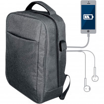 Blaupunkt BLP0280.143 Mochila con Cargador USB, Toma de auriculares, Cómoda, Resistente, Gris ?>