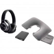 Blaupunkt BLP1730 Set Almohadilla Hinchable, Cascos Bluetooth Alcance 10m, Power Bank 5000mAh ?>