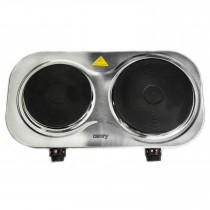 Camry CR6511 Hornillo eléctrico doble 2 placas de cocinado 18,5 cm y 15,5 cm, Regulador de Temperatura, Compacto, 1500 W y 1000 W ?>