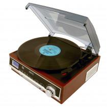 CAMRY CR1113 Tocadiscos Retro 33-45-78 RPM, Radio AM-FM, Estéreo, Despertador, Estilo Vintage, AUX 3,5 mm, Despertador, Pantalla LCD ?>