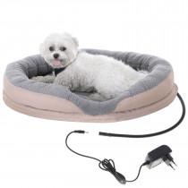 Camry CR7431 Cama para Perros y Gatos Eléctrica Calefactora Redonda 76x58cm, Calefación para Mascotas, Lana sintética Suave, 18W ?>