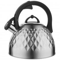 Florina Fenny Satin Tetera con Silbato 2,5 L, Diseño Moderno, Hervidor de Agua, Inducción, Vitrocerámica, Todo Tipo de Cocinas, Acero Inoxidable Satinado ?>