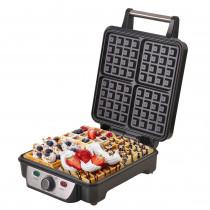 Camry CR 3025 - Gofrera eléctrica máquina hacer 4 gofres belgas, termostato regulable, antiadherente, 1150W ?>