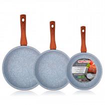 Magefesa Marmol - Set Juego 3 Sartenes 18-20-24 cm, inducción, antiadherente Marmol ?>