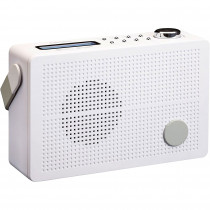 Lenco PDR030 Radio Portátil, Digital, Dab+,FM, 87,5-108 MHz, 174-240 MHz, Pantalla LCD, Despertador, Batería Recargable, Blanco ?>