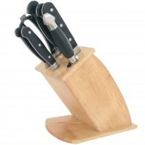 Maestro MR-1423 Bloque Cuchillos Cocina Profesional, 8 pcs.,Taco de Madera Diseño Moderno, 5 Cuchillos Hojas de Acero Inoxidable, Mangos Ergonómicos, Chaira, Tijeras ?>