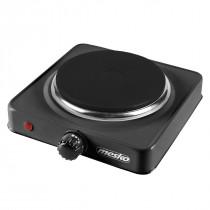 MESKO MS-6508 Hornillo Eléctrico, Regulador de Temperatura, Compacto, Viaje, Camping 154 mm, 1000W, Negro ?>
