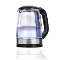 MPM MCZ-78 Hervidor de agua eléctrico cristal 1,7 litros, resistencia oculta, Iluminación LED, 2200 W con apagado automático al alcanzar la ebullición, inalámbrico 360º sin cable, Filtro Antical ?>