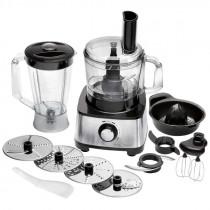 Proficook KM 1063 - Procesador de alimentos, 11 accesorios, 1200 W, acero inoxidable y negro ?>