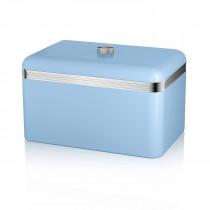 Swan SWKA1010BLN Panera metálica con capacidad 18 litros vintage diseño retro Azul  ?>