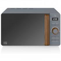 SWAN Nordic Microondas digital 20L, 6 niveles funcionamiento, 800W potencia, temporizador 30 min, fácil limpieza, modo desongelar, diseño moderno, tirador efecto madera, gris mate ?>