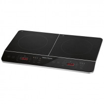 Proficook DKI 1067 - Placa de inducción doble portátil, 10 niveles de temperatura, 3500 W