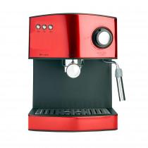 Adler AD 4404R Cafetera Espresso Manual 15 Bares, Depósito 1,6 L, para Preparar Café Latte, Espresso y Capuccino, Vaporizador para Espumar Leche, Calienta Tazas, Rojo, 850W