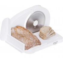 Adler AD4701 Cortafiambres plegable blanco, grosor de corte ajustable 15mm, disco corte 17 cm, 150 W