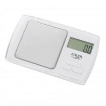 ADLER AD-3161 Balanza de Precisión de Bolsillo (500-0.01g) Balanzas de Comida pequeñas, Balanzas de joyería eléctricas, Pantalla LCD, Acero Inoxidable