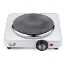 Adler AD-6503 Hornillo Eléctrico, Regulador de Temperatura, Compacto, Viaje, Camping 185 mm, 1500W, Blanco
