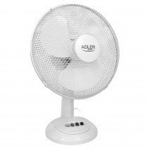 Adler AD7303 Ventilador de Mesa oscilante, Inclinable, 30 cm, 3 velocidades, blanco, 70W