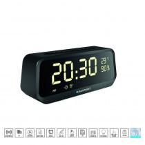 Blaupunkt BLP2400 - Radio Despertador Digital con Bluetooth ( SD, AUX-IN, FM) altavoz inalámbrico, micrónfono, función manos libres, batería 2000mAh, alarma
