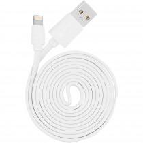 Blaupunkt BLP0215.112 Cable Cargador Lightning a Macho USB, Carga Rápida, Recubrimiento de Goma, 1,2m, Cable Alimentación IOS Blanco
